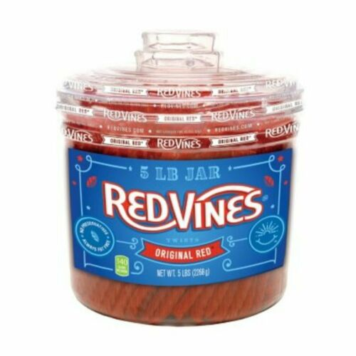 Red Vines Original Red Twists 5 LBS. Jar