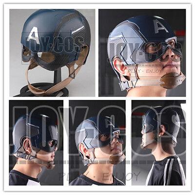 Captain America FRP Hard Helmet 1:1 Costume Replica The Avengers Halloween Props