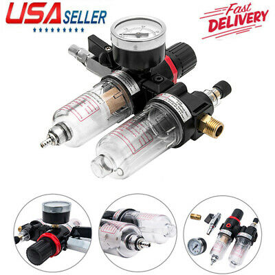 Afc-2000 14 Air Compressor Filter Water Separator Trap Tools W Regulator