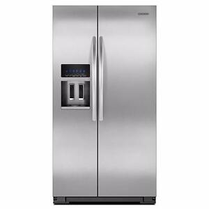 "36"" Counter Depth Side by Side Refrigerator, KitchenAid, stainless"