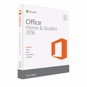 Microsoft office for Mac-Home & Student 2016 (Unused)