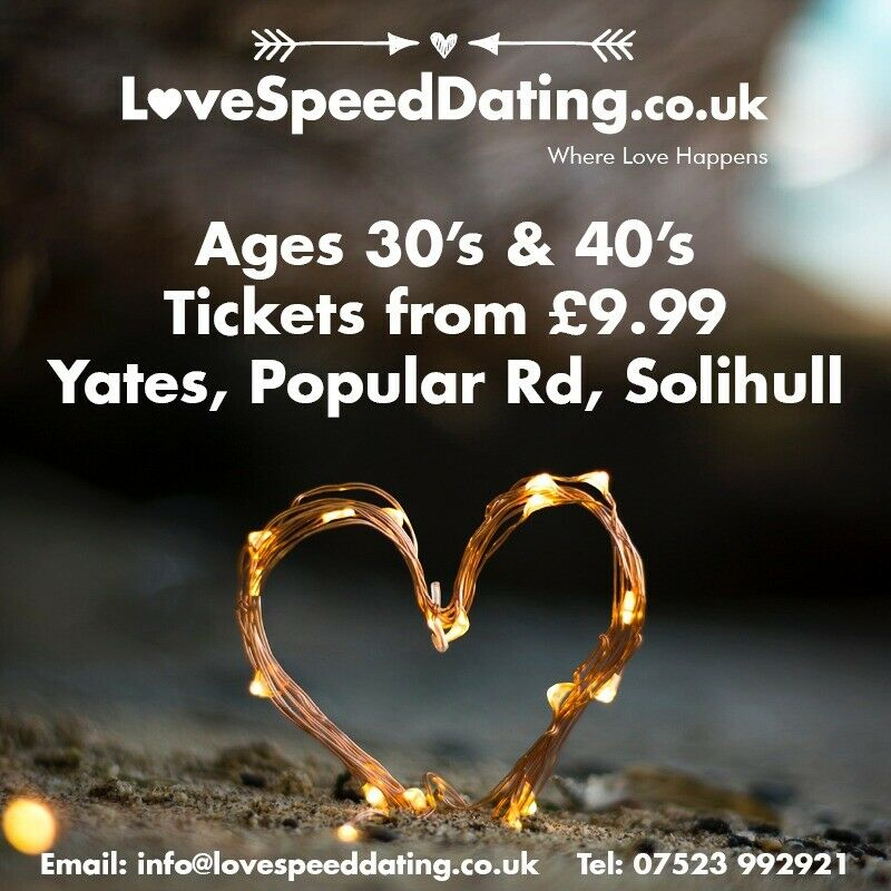 Speed Dating w Solihull West Midlands