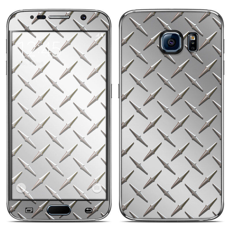 Galaxy S6 Skin - Diamond Plate - Sticker Decal
