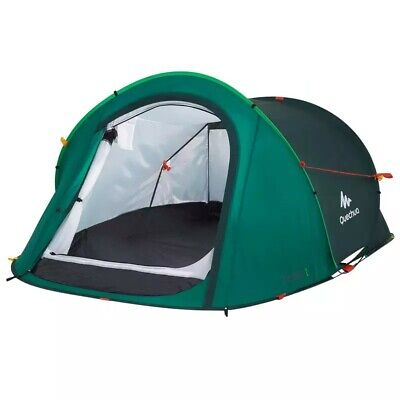 QUECHUA POP UP TENT: 2 person, 2 seconds pitch, double skin, GREEN
