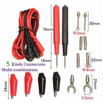 16pc Probe Probes Test Lead Cable For Fluke Multimeter Digital Multi Meter Kit T