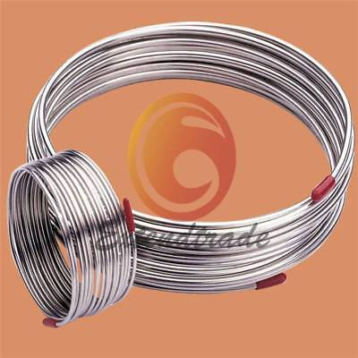 New Stainless Steel Flexible Hose 2m 304 Diameter 3mmtrachea Gas Liquid Tub
