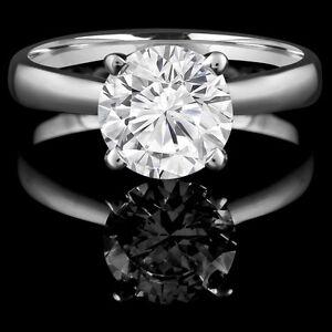 Diamond Engagement Ring 0.75CT Bague de Fiançailles Or Blanc
