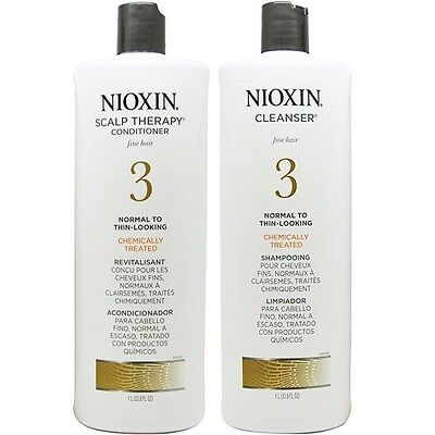 Nioxin System 3 Cleanser and Scalp Therapy 33.8 oz Duo