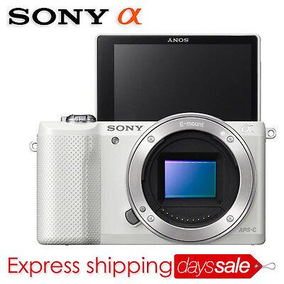 [Brand New] SONY Alpha A5000 Mirroless Digital SLR Camera *White (Body Only)