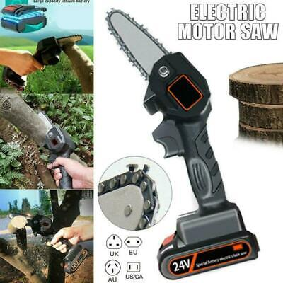 550W 24V One-Hand Mini Saw Woodworking Electric Chain Saw Wood Cutter Cordless