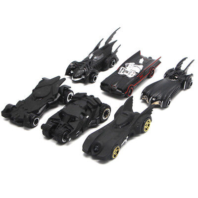 6PCS Batman Theme Batmobile Model Car Toy Vehicle Gift Black Collection Kids (Kids Batmobile Car)