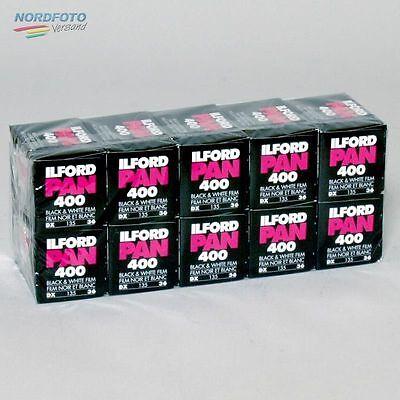 ILFORD Pan 400 Schwarzweißfilm, 135-36, 10 Stück
