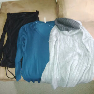 3 Maternity Long Sleeved Shirts and Sweaters