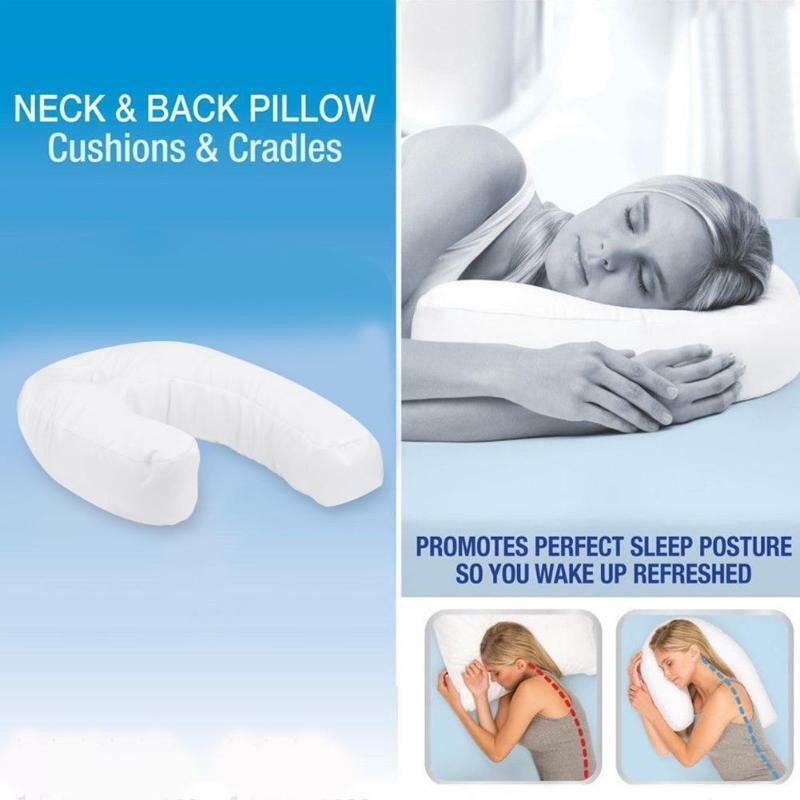 Sidekick Sleeper Pillow Sleep Buddy U-Shaped Pillow Wedge For Health Care Nap
