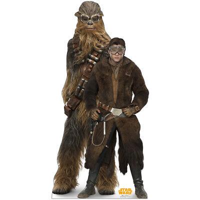 HAN SOLO & CHEWBACCA Solo: A Star Wars Story CARDBOARD CUTOUT Standup Standee