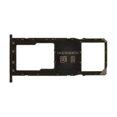 SIM Micro SD Card Tray Single for Motorola Moto G7 Power Black