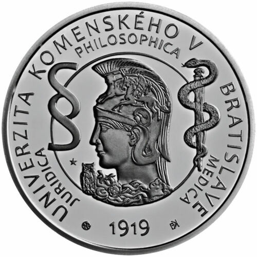 2019 Slovakia € 10 Euro Silver Proof Coin Comenius University 100 Years