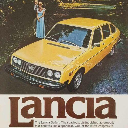 1977 Lancia Beta Sedan classic luxury sport car photo art decor vintage print ad