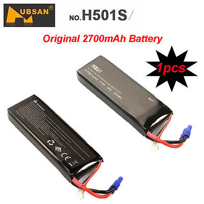Hubsan 7.4V 2700mAh 10C Lipo Battery for Hubsan X4 H501S H501C Drone replacement