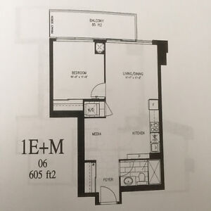 one bedroom plus office/media at Park Lawn and Lakeshore