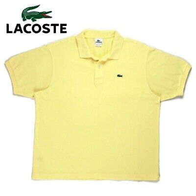 Men's Lacoste Yellow Performance Short Sleeve Golf Polo Shirt Euro Sz 7 2XL XXL