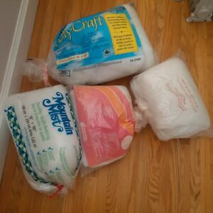 assorted craft/quilt batting, 100% polyester