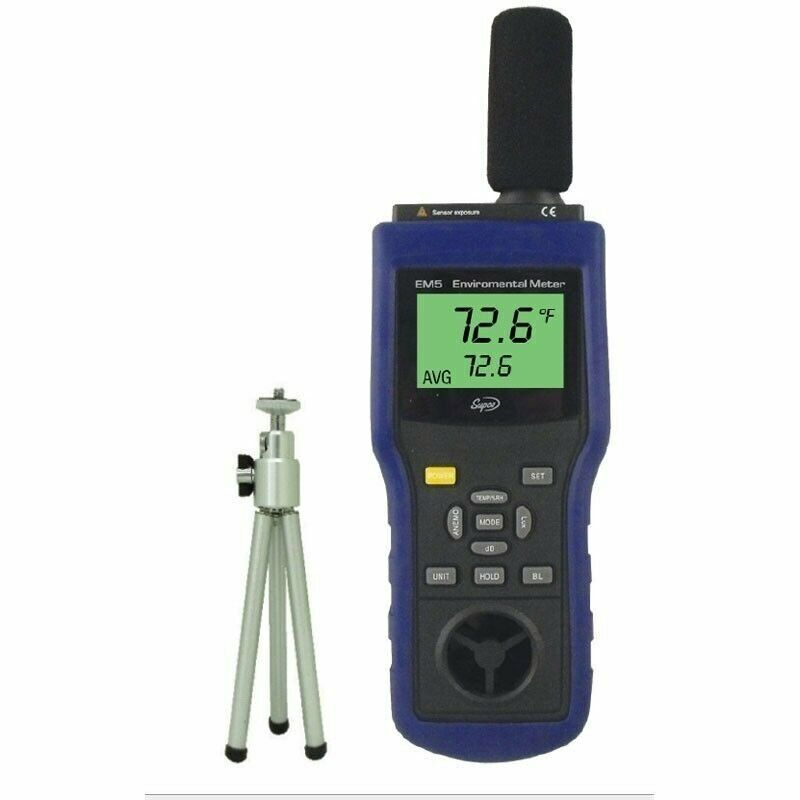 Supco EM5 Environmental Meter,  14 to 140 degree F, +/- 2.7 Degree F Accuracy