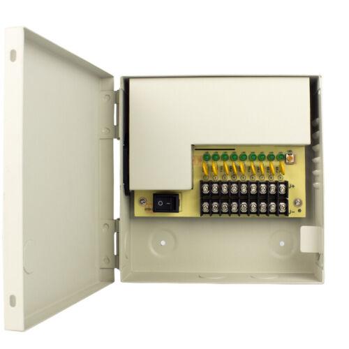 9 CH Channel POWER SUPPLY Switch Distribution Box DC 12V 5AMP DVR CCTV Camera