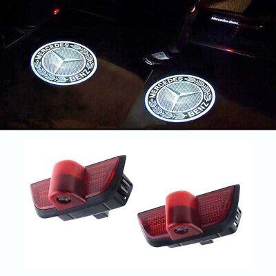 2x Türlicht LED Einstieglicht Mercedes Stern mit Kreis Logo C-Klasse W204 S204