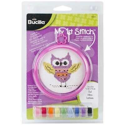 Bucilla My 1st Stitch Counted Cross Stitch Kit, 46033 Owl