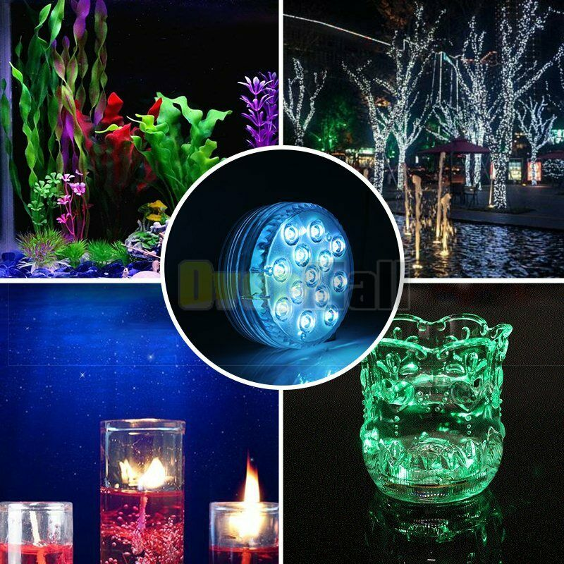 Details About 4pcs Submersible Led Lights Battery Operated Spot With Remote Small Lamps