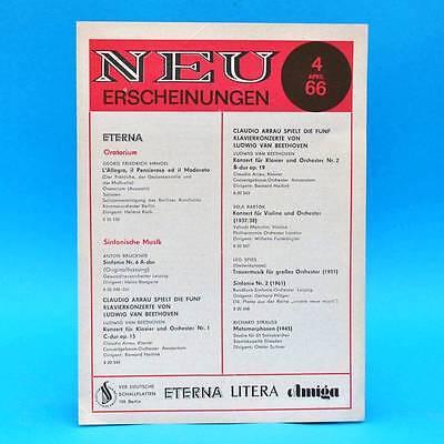 Eterna Litera Amiga | Neuerscheinungen 4/1966 | DDR Neuerscheinungen
