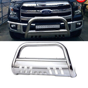 2004 - 14 Ford F150 3 Inch Stainless Bull Bar Push Bumper Grille