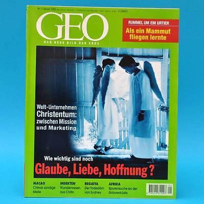 GEO Magazin 1/2000 Mammut Macao Christentum Insekten Regatta Sydney-Hobart