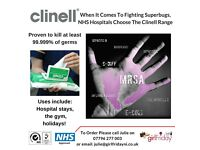 Clinell Wipes - NHS Approved Universal Wipes Skin Friendly - Kills MRSA, E Coli, Salmonella & more