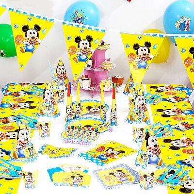 90 PCS  Birthday Wedding Party Decor & Supplies Sets For Disney  Mickey Theme    (Mickey Themed Birthday Party)