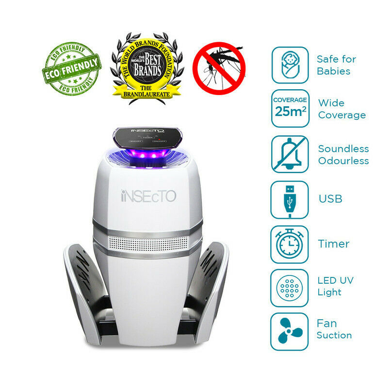 LED UV Electric Mosquito Trap 99% Effective Pest Control For GoodNight Sleep