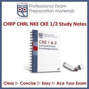 CHRP CKE1 CKE2 NKE 2019 HR Guide Study Notes