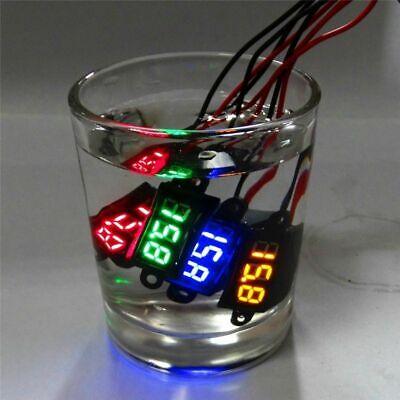 12v Mini Digital Led Voltmeter Waterproof Volt Meter Electric Voltage Car Moto