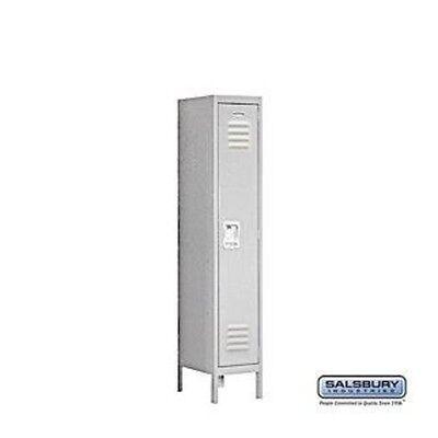 Standard Metal Single Tier 1 Wide 5 Feet High 18 Deep Gray Unassembled Locker