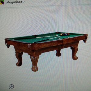 3' x 6' appartment size pool table