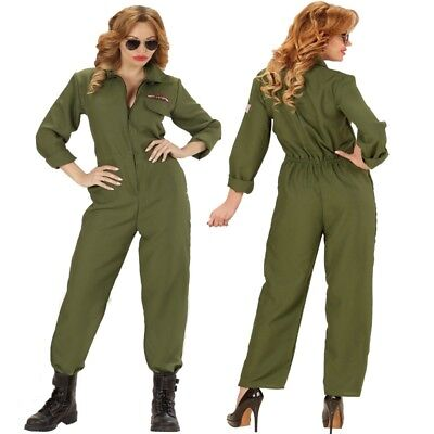 KAMPFJET PILOTIN TOP GUN 46/48 (XL) DAMEN KOSTÜM Fliegeranzug Jet Pilot - Top Gun Damen Kostüm Xl
