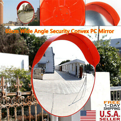 24 Outdoor Wide Angle Security Convex Pc Mirror Road Traffic Driveway Safe Us