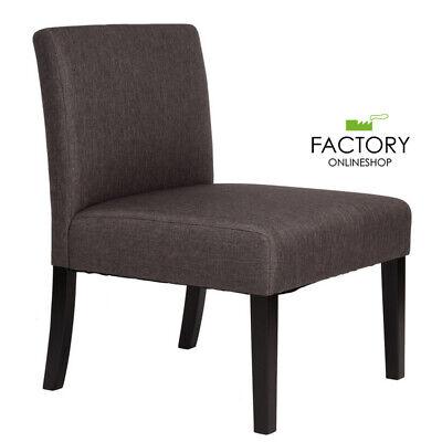 Modern Accent Chair Single Sofa Side Chair Grey Soft Fabric