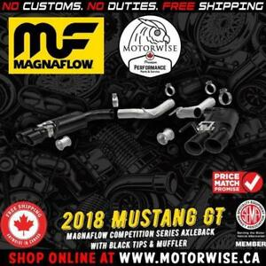 Magnaflow Competition Black Tips Axleback Exhaust | 2018 Ford Mustang GT | Shop & Order Online at www.motorwise.ca