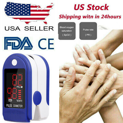 Blood Pulse Oximeter Spo2 Oxygen Monitor Finger Oxygen Saturation Pr Pi Monitor