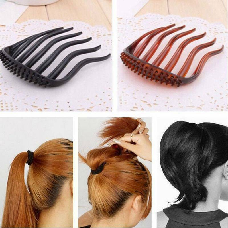 Women Volume Inserts Hair Clip Bumpits Bouffant Ponytail Hair Comb Bun DIY Maker