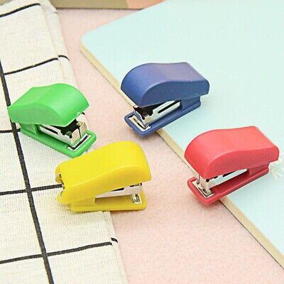 Portable Mini Stapler Set Random Colors Students Cute Stationary Gift