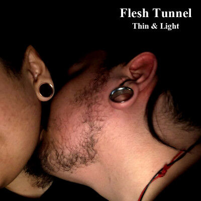 Tunnel Lights (Thin&Light Double Flare Steel Flesh Ear Tunnel Gauges Expander Plug Piercing)