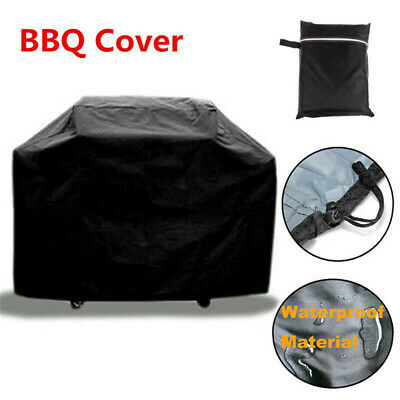 Large Black 145cm Heavy Duty BBQ Cover Waterproof Barbecue Patio Grill